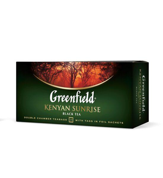 """GREENFIELD """"Kenyan Sunrise"""" melnā tēja 25x2g"""