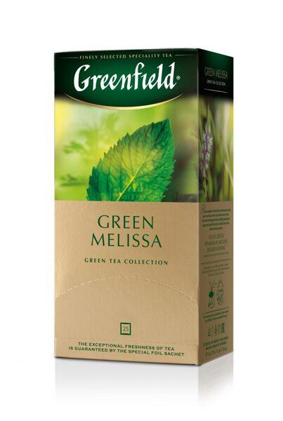 "GREENFIELD ""Green Melisa"" zaļā tēja 25x1.5g"