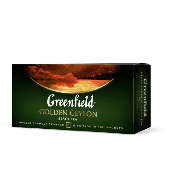 """GREENFIELD """"Golden Ceylon"""" melna teja  25x1,5g"""