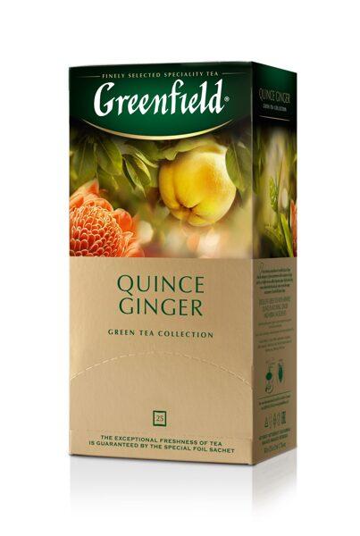 "GREENFIELD ""Quince Ginger"" zaļā tēja 25x2g"