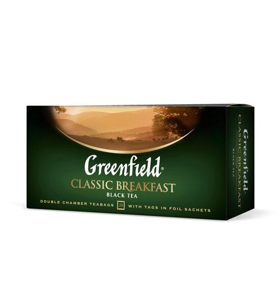 """GREENFIELD """"Classic Breakfast"""" melnā tēja 25x2g"""