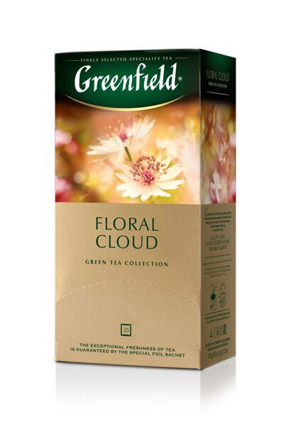 """GREENFIELD """"Floral Cloud"""" zaļā tēja  25x1,5g"""