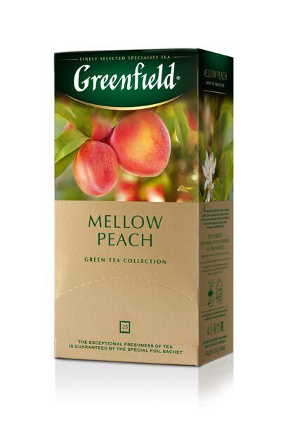 "GREENFIELD ""Mellow Peach"" zaļā tēja  25x1,8g"