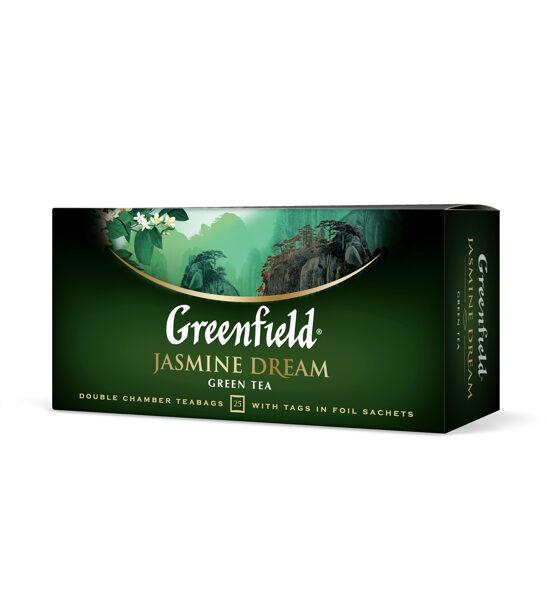 """GREENFIELD """"Jasmine Dream"""" zaļā tēja 25x2g"""
