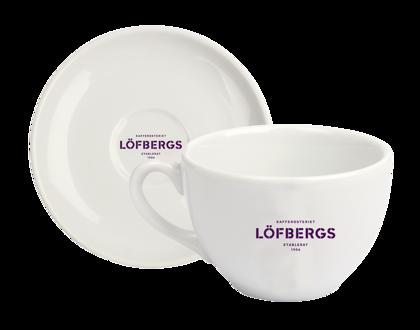 Porcelāna Tasite ar apakštasīti Lofbergs 200ml/ Kuba