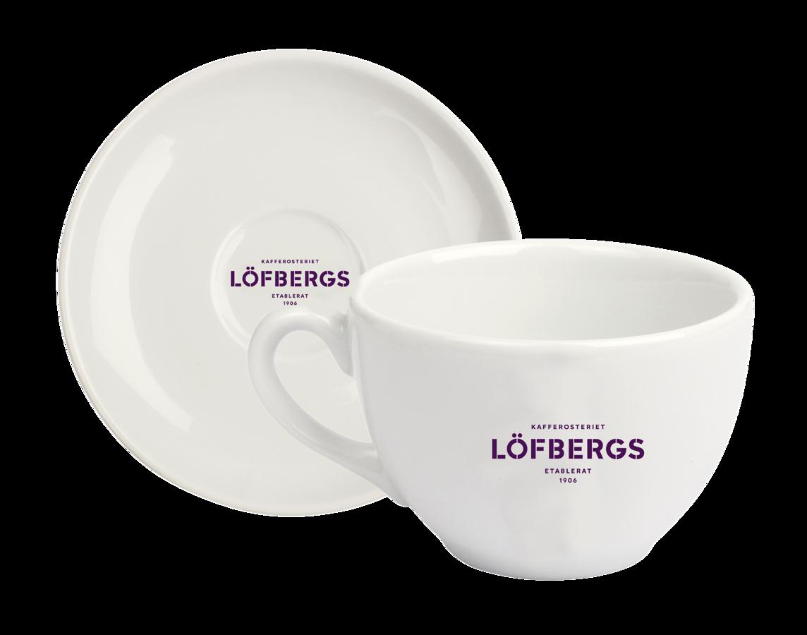 Porcelāna Tasīte ar apakštasīti Lofbergs 150ml/ Nana