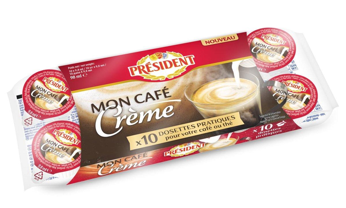 Kafijas krējums President (10 x10g)