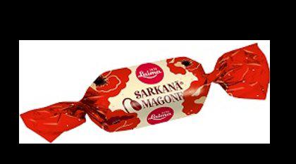 """Šokolādes konfektes """"Sarkanā Magone"""" Laima 1 kg"""