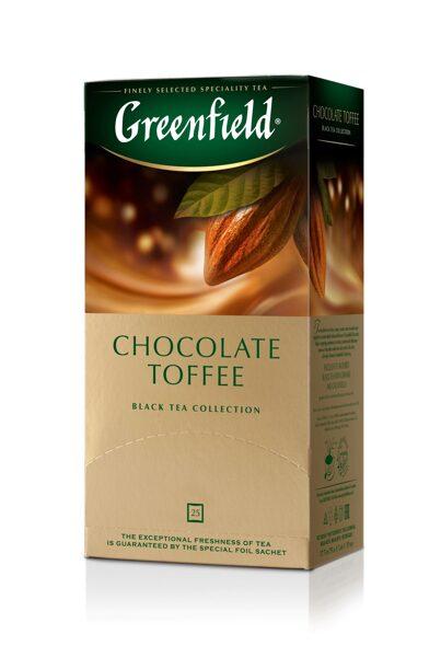 "GREENFIELD ""Chocolate Toffee"" melnā tēja 25x1,5g"